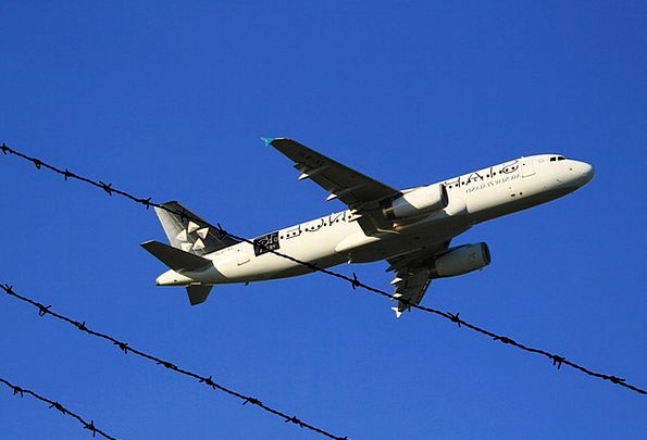 Aircraft Take-Off Airbus Air New Zealand A320 Pass
