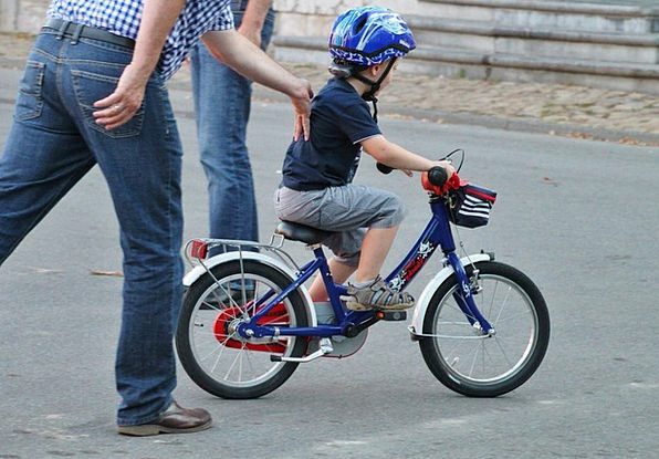Child Youngster Lad Bike Motorbike Boy Assistance