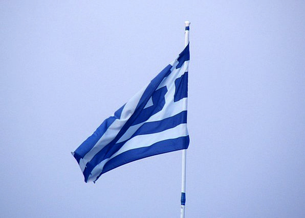 Greece Standard Greek Flag Flying Nation State Pat