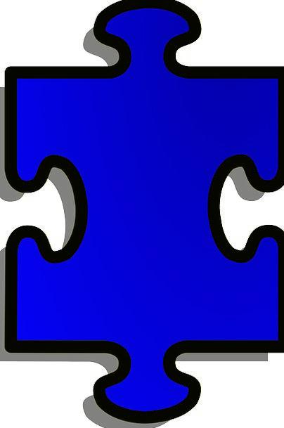 Jigsaw Mystery Piece Part Puzzle Metaphor Blue Azu