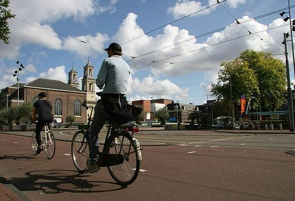 Amsterdam Bike Waterlooplein Bicycle Street Scene