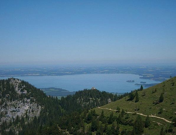 Outlook Viewpoint Kampenwand Chiemsee See Understa