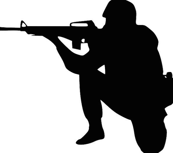 Solider Harder Bend Rifle Ransack Crouch War Aimin