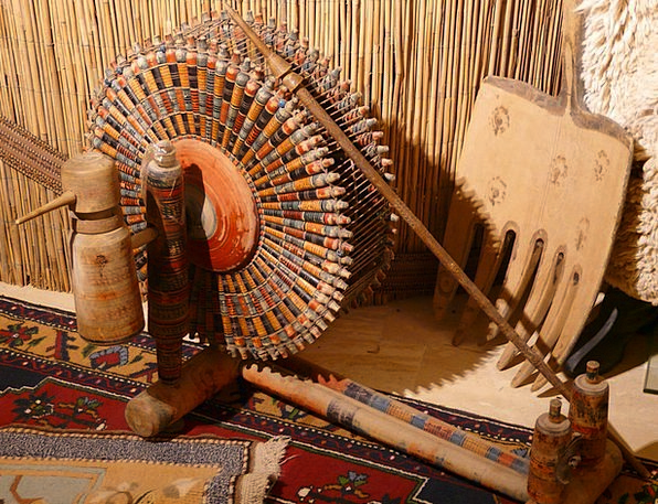 Spinning Wheel Rods Carpet Weaving Center Spindles