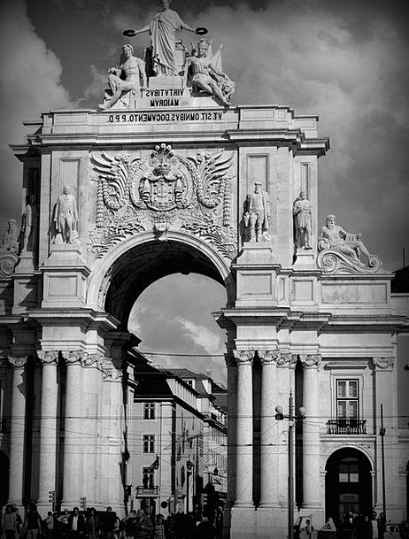 Lisbon Monuments Places Lisboa Portugal Town Landm