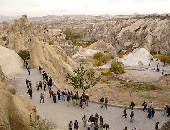 Tourists Travelers Human Humanoid Göreme Churches
