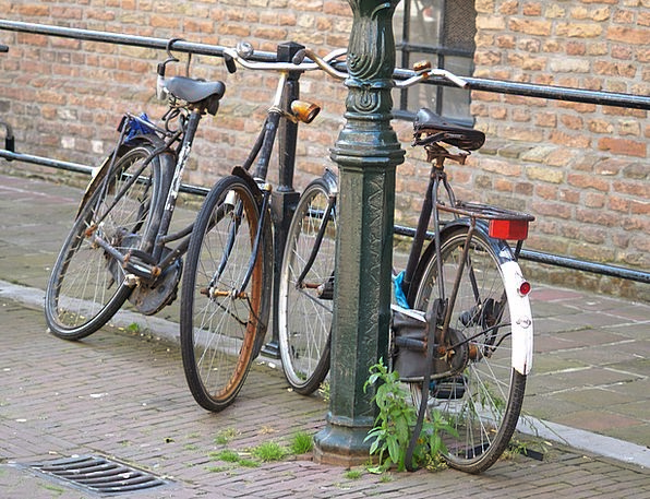 Bike Motorbike Buildings Architecture Netherlands