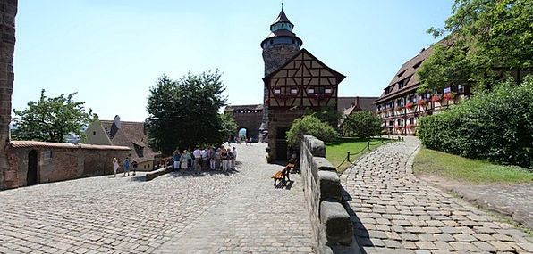 Nuremberg Fortress Burghof Castle Middle Ages Germ