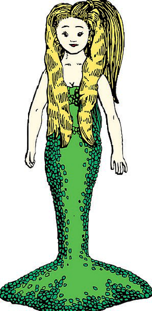 Mermaid Lime Blond Hair Green Fictional Girl Lassi