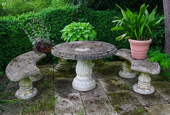 Seating Area Stone Bench Table Stone Table Bench G