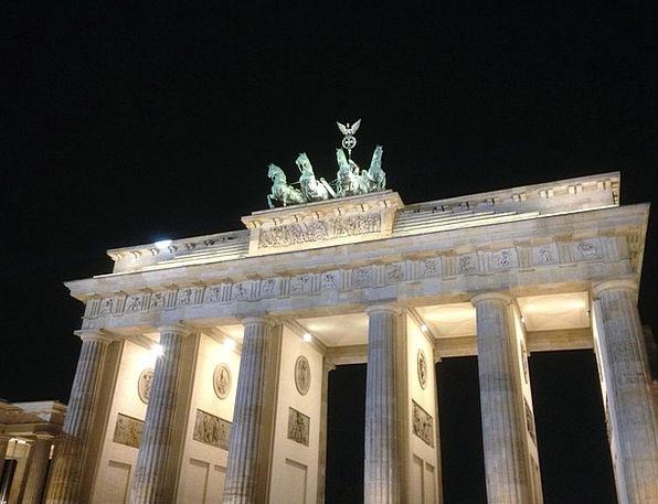 Brandenburg Gate Monuments Places Night Nightly Be