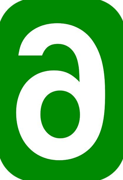 Six Rounded Round 6 Rectangle Box Number Green Fre