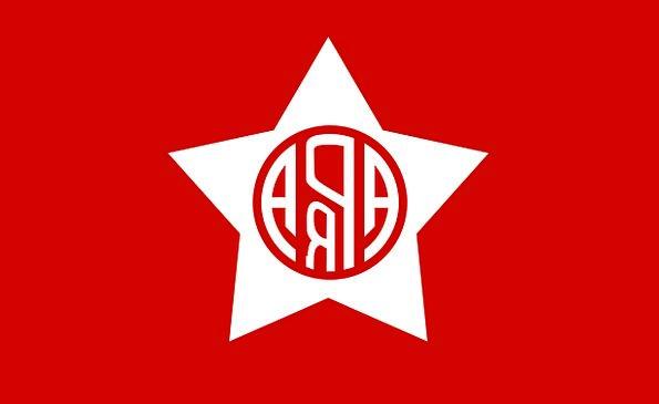 Flag Standard Bloodshot Peru Red Political Party-p