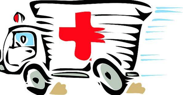 Ambulance Medical Health Red Bloodshot Paramedic H