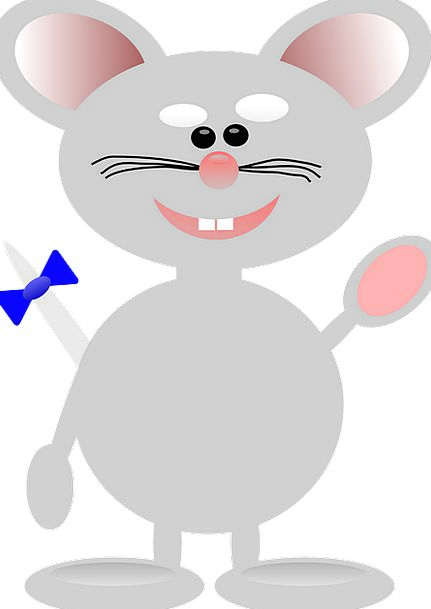 Mouse Animation Cute Attractive Cartoon Smile Isol