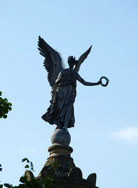 Siegburg Germany Angel Seraph Siegessäule Sky Blue