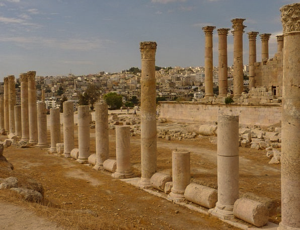 Temple Of Artemis Vacation Travel Jerash Gerasa Jo