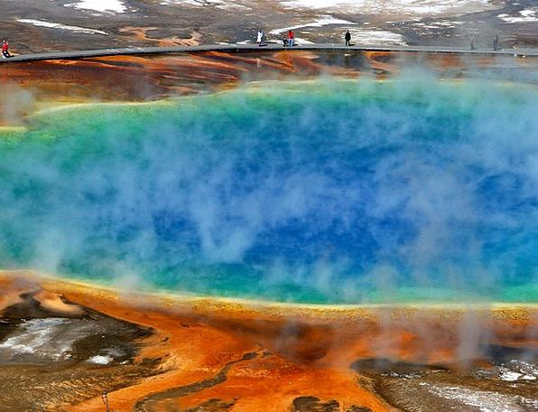 Morning Glory Pool Hot Spring Geyser Yellowstone N