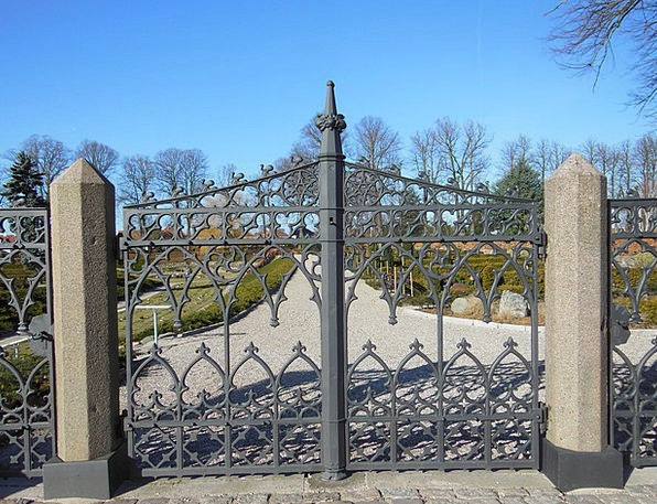 Wrought Iron Gates Ancient Patterned Decorative Ol