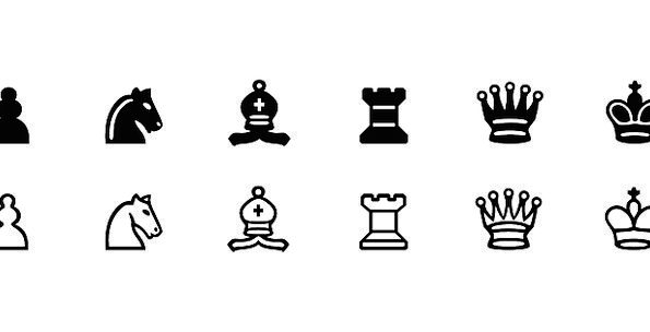 Chess Smithereens Set Usual Pieces Free Vector Gra