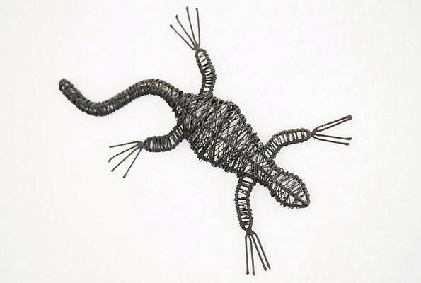 Gekko Gecko Lizards Decorative Animal World Wire A