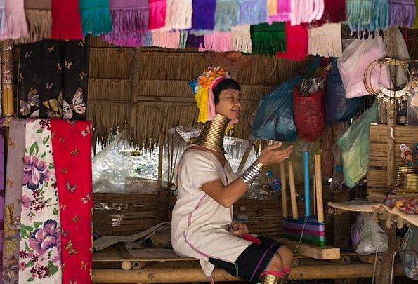 Long-Necked Tribe Women Females Thailand