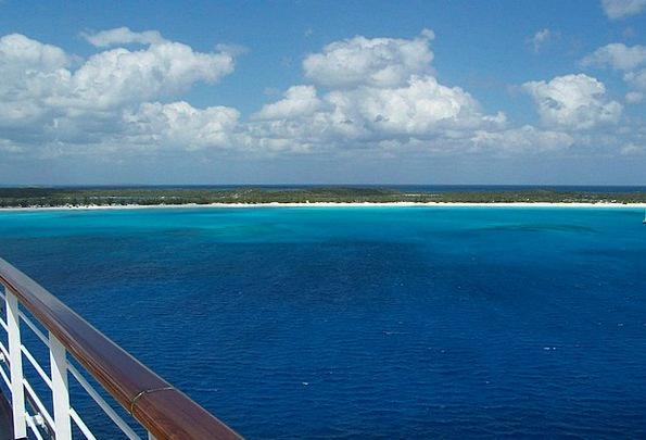 Ocean Marine Vacation Travel Blue Sky Cruise Ship