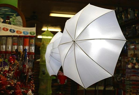 Umbrella Canopy Illuminations Camera Lights White