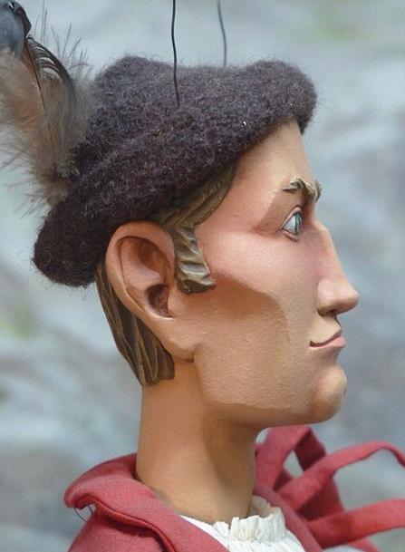Puppet Marionette Gentleman Peron Man Surprised As