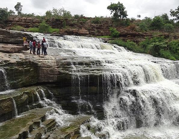 Waterfall Cascade Landscapes Nature Gokak Godachin