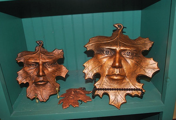 Leaf Foliage Public Art Painting People Mask Cover