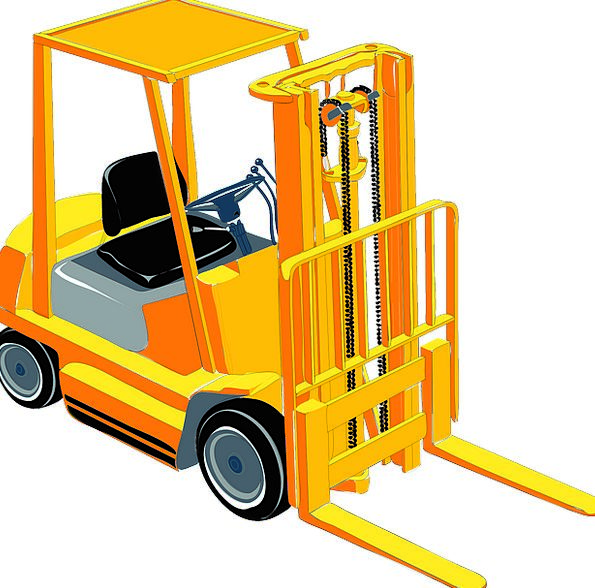 Fork Lift Traffic Building Transportation Heavy We