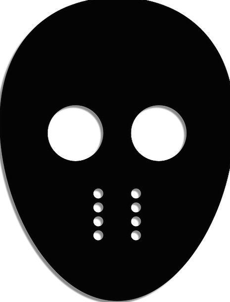 Jason Mask 13Th Friday Mask Cover Black Free Vecto