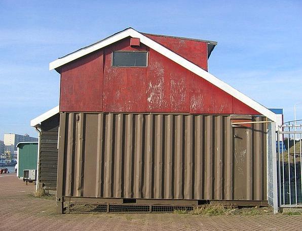 Scheveningen Harbor Cottage Hut Port