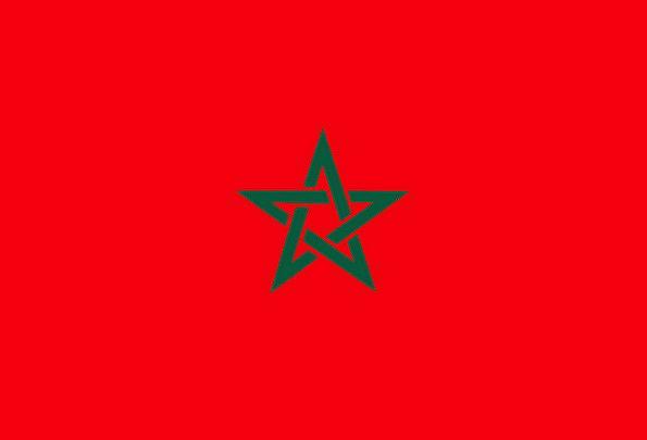 Morocco Standard National Nationwide Flag Red Back