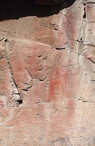 Pictograph Symbol Drawing Sketch Rock Art Usa Nati