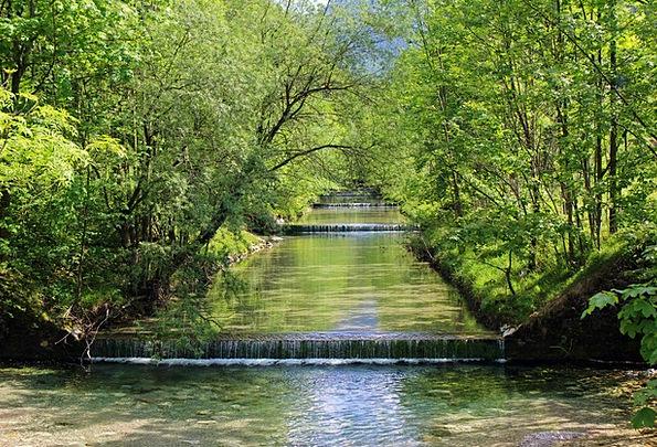 Cascade Landscapes Waterfalls Nature Gradually Slo