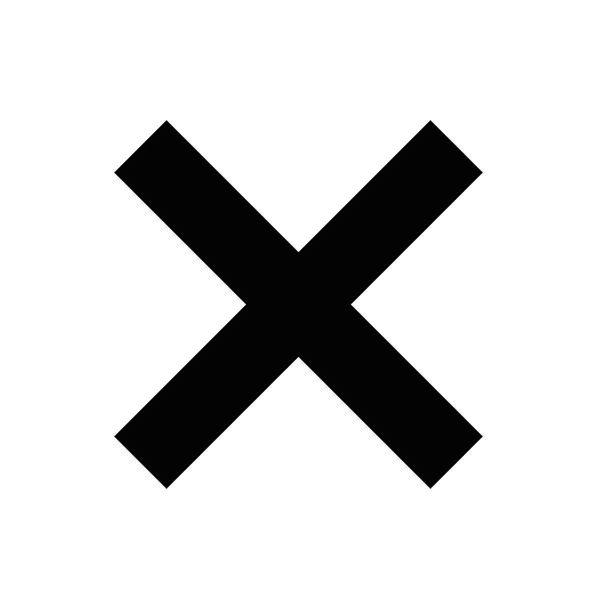 Delete Erase Irritated Black Dark Cross Crash Bang