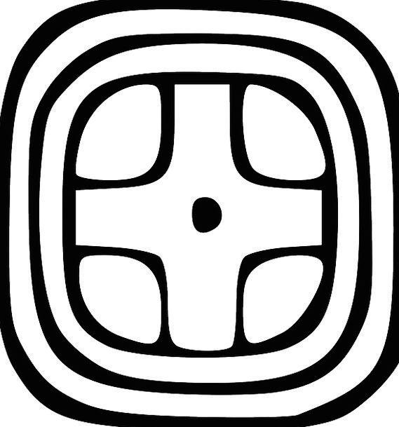 Mayan Maya Glyph Sun Symbols Ciphers Pixcove