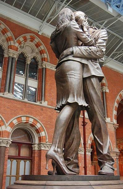 Meeting Place Haunt Figurine Man Gentleman Statue