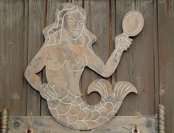 Mermaid Glass Water Sprite Mirror Beautiful Lovely