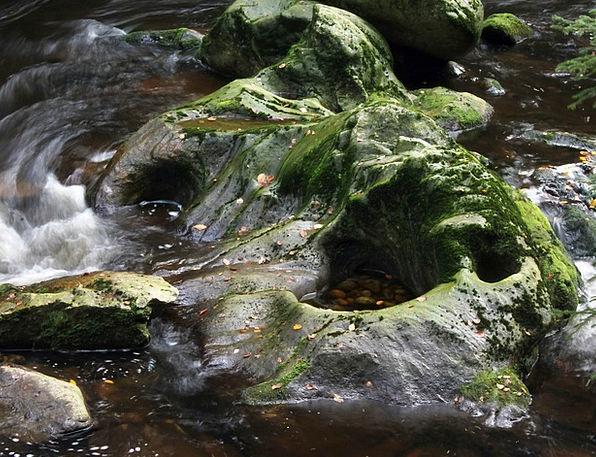 River Stream Aquatic Rock Pillar Water