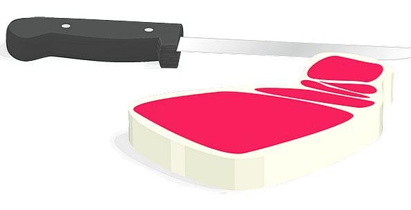 Steak Drink Blade Food Red Bloodshot Knife Butcher