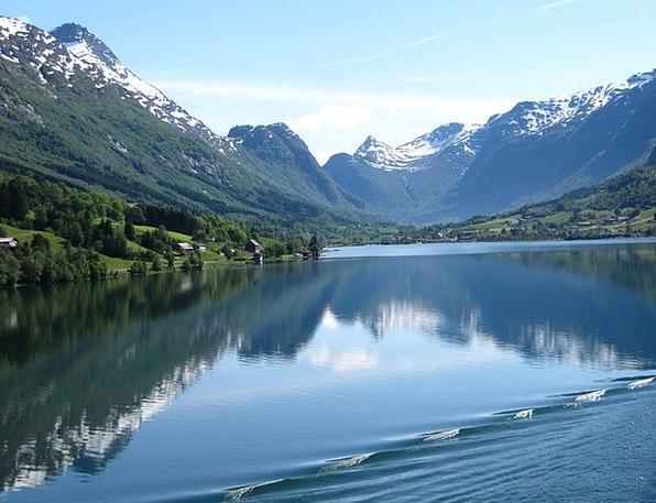 Norway Inlet Norwegian Fjord Cruise Voyage Beautif