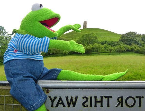 Glastonbury Tor Landscapes Nature Frog Kermit Aval