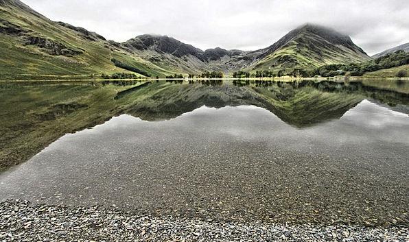Lake Freshwater Landscapes Nature Buttermere Cumbr