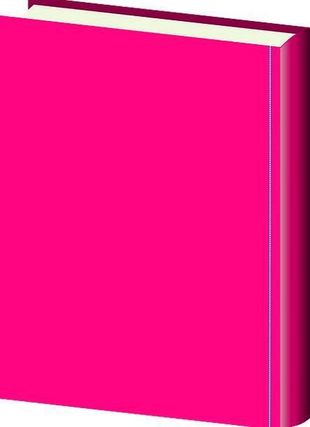 Book Volume Pink Flushed Hardcover Cartoon Animati