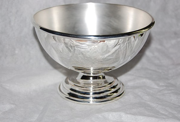 Cup Mug Gray Trophy Silver Victory Goblet Glass Re