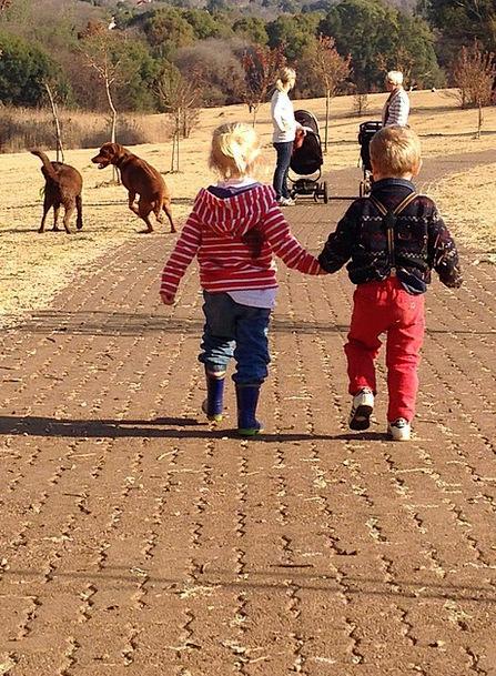 Kids Children Attractive Holding Hands Cute Happin