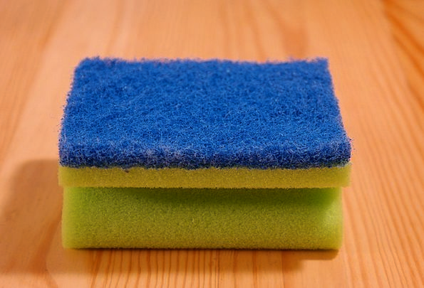Sponge Loofa Spotless Rinse Solution Clean Cleanli